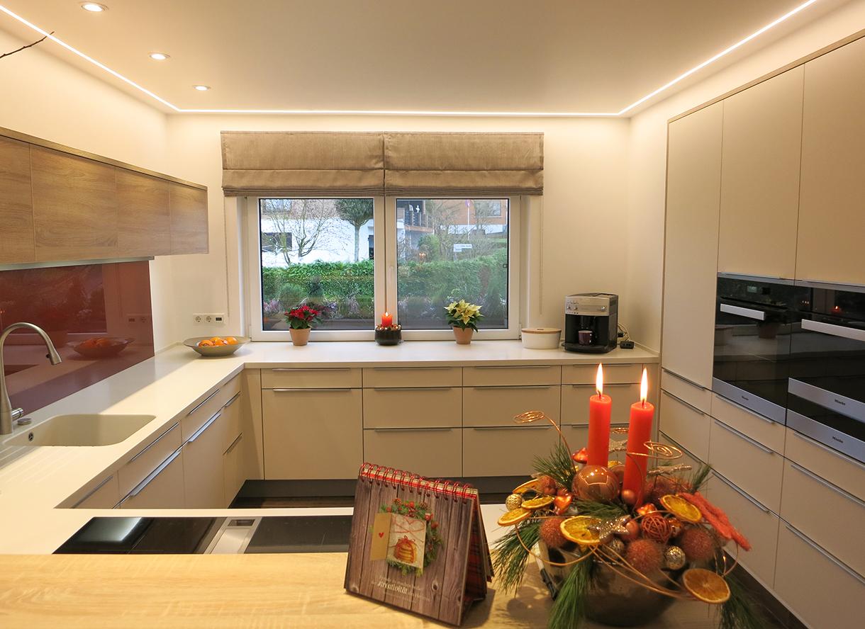 Offene Küche G Form. Ikea Küche Neue Fronten Rote Arbeitsplatte ...